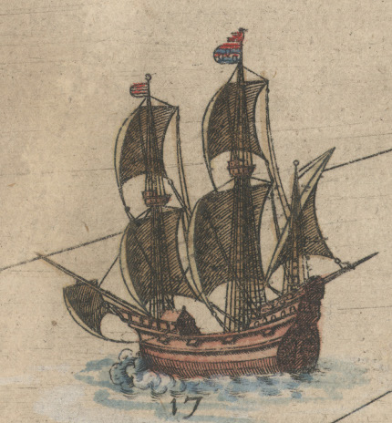 Skib hos Waghenaer