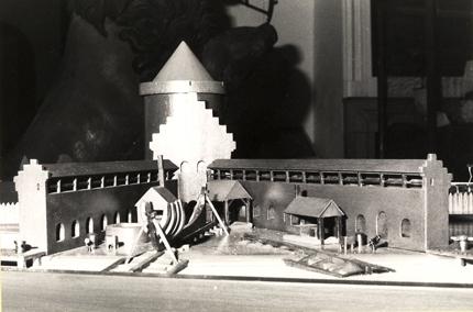 Model af Kong Hans skibsværft