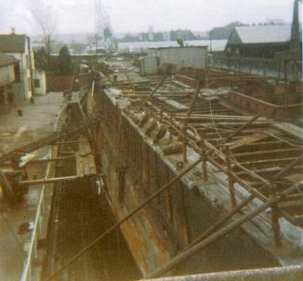 SS Great Britain før restaureringen påbegyndte i 1971
