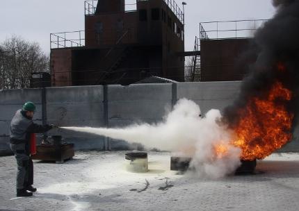 Slukning af større brand