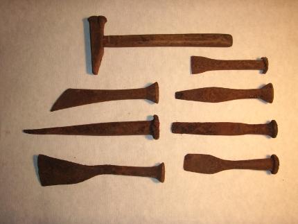 Korroderet værktøj før konservering