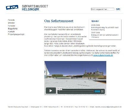 Den nye hjemmeside for Maritim Museums Byg