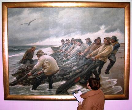 Tilstandsrapport af Ancher maleri deponeret på Øresundsakvariet